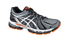 Asics Men's Gel Nimbus 15 storm/black/flash orange